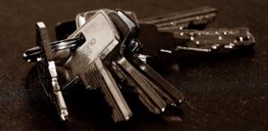 Car keys on counter
