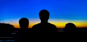 my three sons at sunset