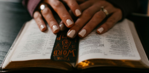 hands on open bible